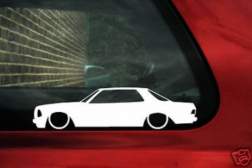 LOW Mercedes Coupe W123,outline, silhouette stickers for w123, 230 c /230ce / 280c / 280ce